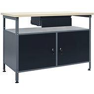 Pracovní stůl černý 120 x 60 x 85 cm ocel 145345