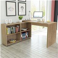 Corner office desk, 4 shelves, oak 243059 - Workbench