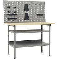 Pracovní stůl se třemi nástěnnými panely 3053426