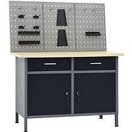 Pracovní stůl se třemi nástěnnými panely 3053428