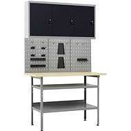 Pracovní stůl se třemi nástěnnými panely a jednou skříňkou 3053436