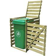 Single bin shelter 240 l impregnated wood 42269