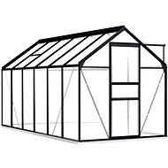 Skleník s podkladovým rámem antracitový hliník 7,03 m2 48218
