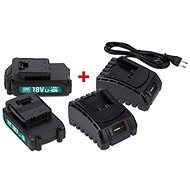 POWERPLUS POWEB9090 - Charger and Spare Batteries