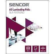 SENCOR SLA FA3M250 A3 250mic - balení 25ks - Laminovací fólie