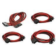 Phanteks Extension Cable Set - Černá/Červená - Napájecí kabel