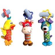Playgro Cestovní závěsné hračky 3 ks - Hračka na kočárek