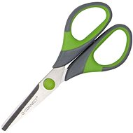 Q-CONNECT Soft Grip 14 cm zeleno-šedé - Kancelářské nůžky