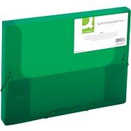 Q-CONNECT A4 s gumičkou, transparentně zelený