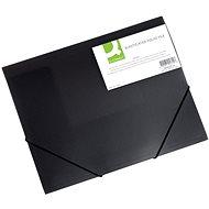 Q-CONNECT A4 s klopami a gumičkou, transparentně černé