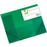 Q-CONNECT A4 s klopami a gumičkou, transparentně zelené