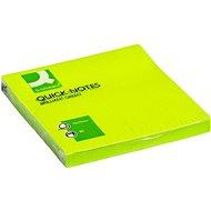 Q-CONNECT 76 x 76 mm, 75 lístků, zelený - Samolepicí bloček