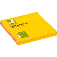 Q-CONNECT 76 x 76 mm, 75 lístků, oranžový - Samolepicí bloček