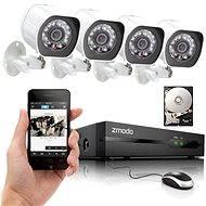 ZMODO 4-kanálový rekordér NVR + 4x IR IP kamera s PoE - Kamerový systém