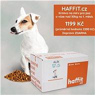 Haffit krmivo na míru pro psa o váze nad 30 kg. Čerstvě připravené polštářky přeplněné masem - Voucher: