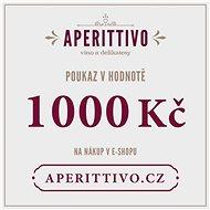 """Dárkový poukaz na vína a delikatesy """"Aperittivo"""" v hodnotě 1000 Kč - Voucher:"""