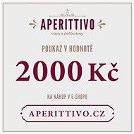 """Dárkový poukaz na vína a delikatesy """"Aperittivo"""" v hodnotě 2000 Kč - Voucher:"""