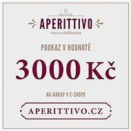 """Dárkový poukaz na vína a delikatesy """"Aperittivo"""" v hodnotě 3000 Kč - Voucher:"""