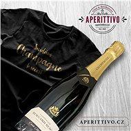 Champagne bernard Rémy a tričko Snídám Champagne k večeři - Voucher: