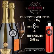 Prosecco Moletto Extra Dry a SpritzOne 1 litr - Voucher: