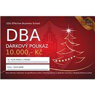 Dárkový poukaz na online DBA studium v hodnotě 10 000 Kč - Voucher: