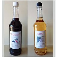 2 x 1L Farm fruit wines - currants with sea buckthorn and elderberry wine - Voucher: