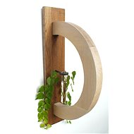 Nástěnný dubový dekorační rámeček - obloukový