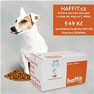 Haffit.cz krmivo na míru pro psa o váze do 4 kg. Čerstvě připravené polštářky přeplněné masem - Voucher: