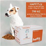 Haffit.cz krmivo na míru pro psa o váze 4 - 15 kg. Čerstvě připravené polštářky přeplněné masem - Voucher: