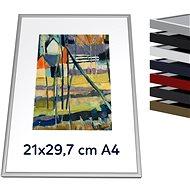 THALU Kovový rám 21x29,7 A4 cm Stříbrná matná     - Fotorámeček