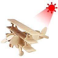 Dřevěné 3D Puzzle - Solární letadlo Trojplošník - Puzzle