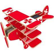 Dřevěné 3D Puzzle - Solární letadlo Trojplošník barevné - Puzzle