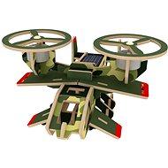 Dřevěné 3D Puzzle - Vojenské solární letadlo Avatar barevné - Puzzle