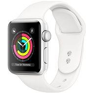 Repasované Apple Watch Series 4 40mm Stříbrný hliník s bílým sportovním řemínkem - Chytré hodinky