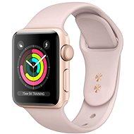 Repasované Apple Watch Series 4 40mm Zlatý hliník s pískově růžovým provlékacím sportovním řemínkem - Chytré hodinky