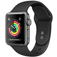 Repasované Apple Watch Series 4 44mm Vesmírně černý hliník s černým sportovním řemínkem - Chytré hodinky