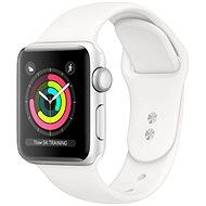 Repasované Apple Watch Series 5 44mm Stříbrný hliník s bílým sportovním řemínkem - Chytré hodinky