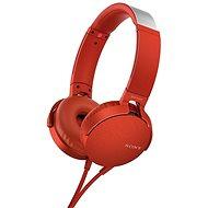 Sony MDR-XB550AP červená - Sluchátka s mikrofonem