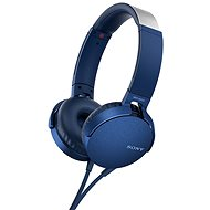Sony MDR-XB550AP modrá - Sluchátka s mikrofonem