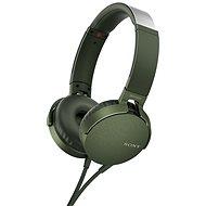 Sony MDR-XB550AP zelená - Sluchátka s mikrofonem