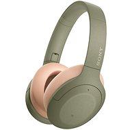 Sony Hi-Res WH-H910N, zeleno-tělová - Bezdrátová sluchátka