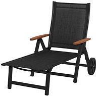 SUN GARDEN ASS COMFORT chaise longue anthracite / black - Garden lounger