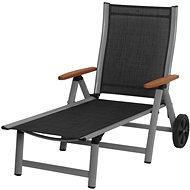 SUN GARDEN ASS COMFORT chaise longue silver / black - Garden lounger