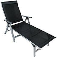 SUN GARDEN LONDON silver / black deckchair - Garden lounger