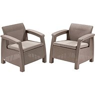 ALLIBERT CORFU DUO, Cappucino - Garden Furniture