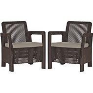 ALLIBERT TARIFA 2x chairs hnědá - Zahradní nábytek
