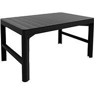 ALLIBERT Stůl LYON RATTAN grafit - dvě výšky stolu - Zahradní stůl