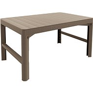 ALLIBERT Stůl LYON RATTAN - cappucino dvě výšky stolu - Zahradní stůl