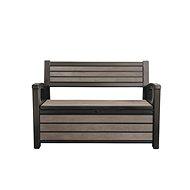 KETER HUDSON STORAGE Bench, Brown - Garden benches