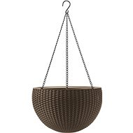 KETER HANGING SPHERE flower pot brown - Flowerpot